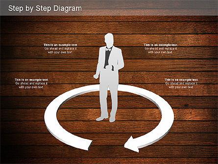 Step by Step Diagram, Slide 16, 01173, Stage Diagrams — PoweredTemplate.com