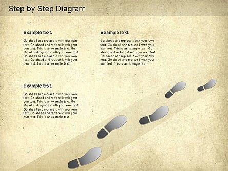 Step by Step Diagram, Slide 2, 01173, Stage Diagrams — PoweredTemplate.com