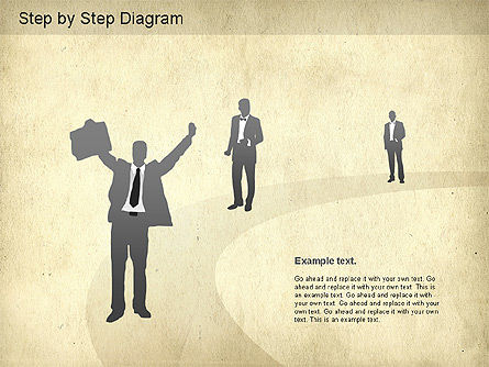 Step by Step Diagram, Slide 3, 01173, Stage Diagrams — PoweredTemplate.com