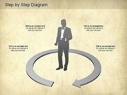 Step by Step Diagram, Slide 5, 01173, Stage Diagrams — PoweredTemplate.com
