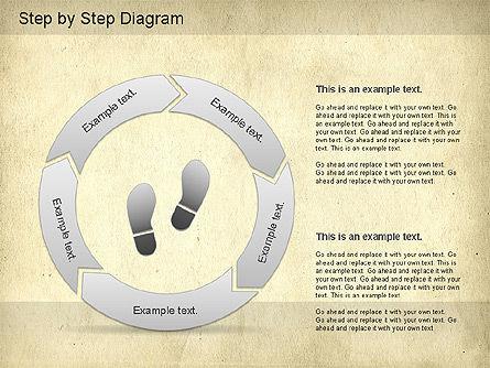 Step by Step Diagram, Slide 6, 01173, Stage Diagrams — PoweredTemplate.com