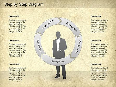 Step by Step Diagram, Slide 8, 01173, Stage Diagrams — PoweredTemplate.com