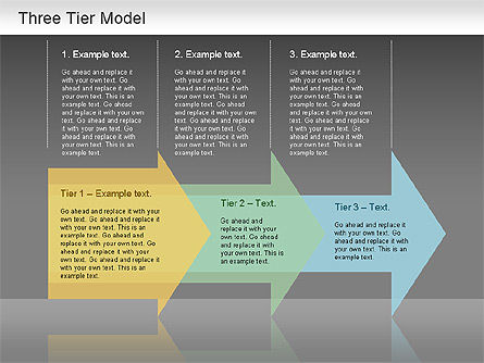 Three Tier Model Diagram, Slide 2, 01174, Business Models — PoweredTemplate.com