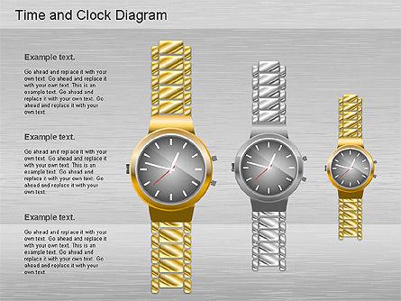Time and Clock Shapes, Slide 3, 01175, Shapes — PoweredTemplate.com