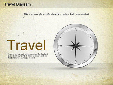 World Travel Diagram, 01178, Presentation Templates — PoweredTemplate.com