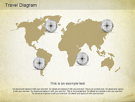 World Travel Diagram, Slide 2, 01178, Presentation Templates — PoweredTemplate.com