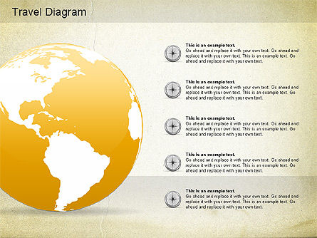 World Travel Diagram, Slide 4, 01178, Presentation Templates — PoweredTemplate.com