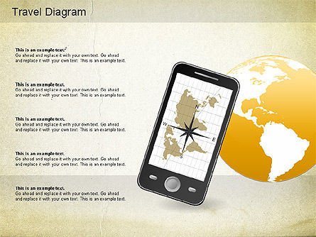 World Travel Diagram, Slide 9, 01178, Presentation Templates — PoweredTemplate.com