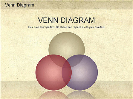 Business Models: Vintage Style Venn Diagram #01179