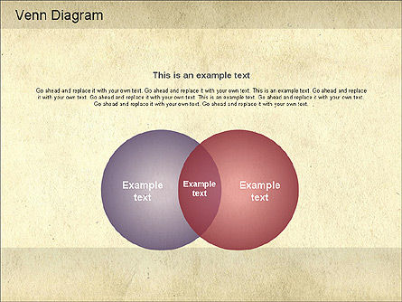 Vintage Style Venn Diagram, Slide 2, 01179, Business Models — PoweredTemplate.com