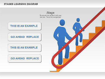 Stage Training Diagram, Slide 3, 01180, Stage Diagrams — PoweredTemplate.com