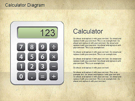 Calculator Diagram, 01182, Education Charts and Diagrams — PoweredTemplate.com