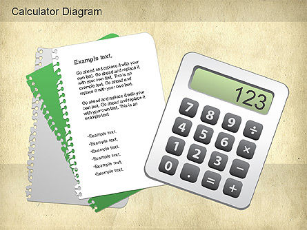 Calculator Diagram, Slide 2, 01182, Education Charts and Diagrams — PoweredTemplate.com