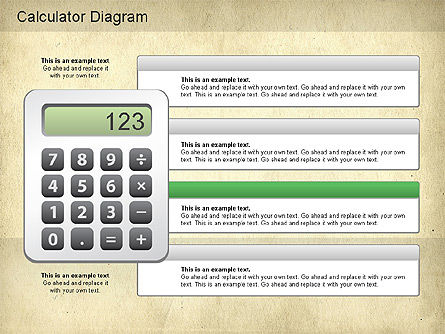 Calculator Diagram, Slide 3, 01182, Education Charts and Diagrams — PoweredTemplate.com