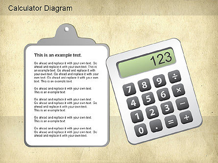 Calculator Diagram, Slide 4, 01182, Education Charts and Diagrams — PoweredTemplate.com