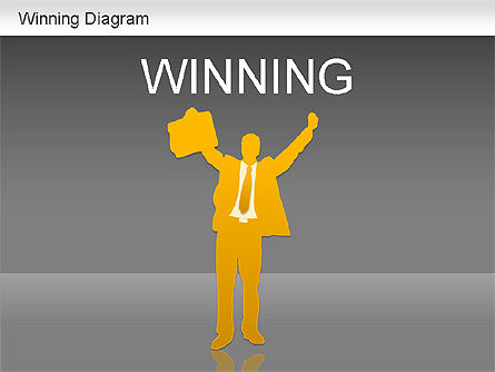Winner Shapes, Slide 13, 01183, Shapes — PoweredTemplate.com