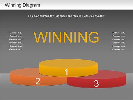 Winner Shapes, Slide 15, 01183, Shapes — PoweredTemplate.com