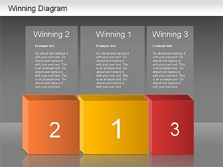 Winner Shapes, Slide 16, 01183, Shapes — PoweredTemplate.com