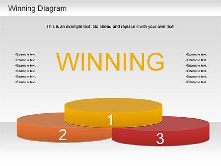 Winner Shapes, Slide 3, 01183, Shapes — PoweredTemplate.com