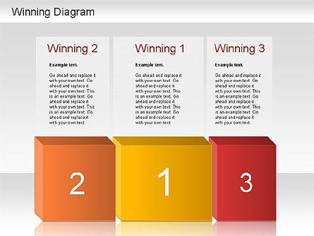 Winner Shapes, Slide 4, 01183, Shapes — PoweredTemplate.com