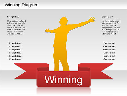 Winner Shapes, Slide 6, 01183, Shapes — PoweredTemplate.com