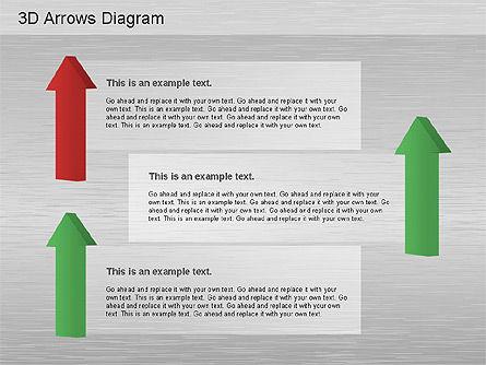 3D Process Arrows Collection, Slide 2, 01188, Process Diagrams — PoweredTemplate.com