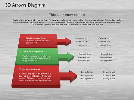 3D Process Arrows Collection, Slide 3, 01188, Process Diagrams — PoweredTemplate.com