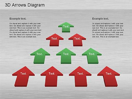 3D Process Arrows Collection, Slide 4, 01188, Process Diagrams — PoweredTemplate.com