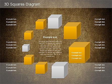 3D Squares Diagram, Slide 13, 01189, Shapes — PoweredTemplate.com