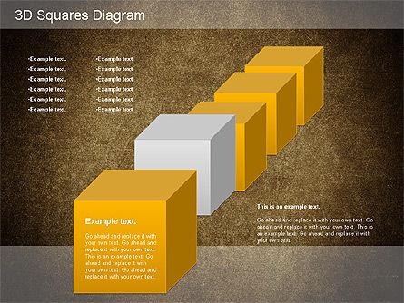 3D Squares Diagram, Slide 14, 01189, Shapes — PoweredTemplate.com