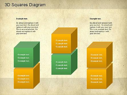 3D Squares Diagram, Slide 5, 01189, Shapes — PoweredTemplate.com