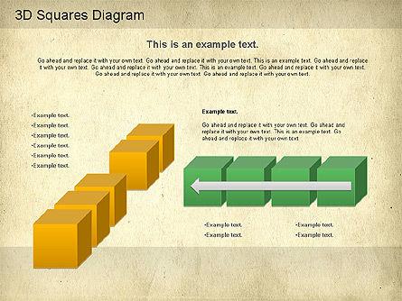 3D Squares Diagram, Slide 7, 01189, Shapes — PoweredTemplate.com