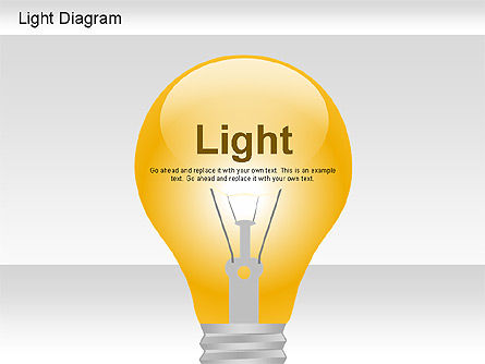 Light Shapes Diagram, 01191, Shapes — PoweredTemplate.com