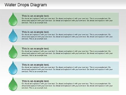 Water Drops Diagram, Slide 10, 01193, Stage Diagrams — PoweredTemplate.com