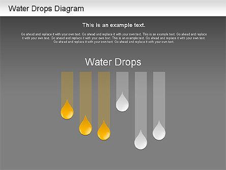 Water Drops Diagram, Slide 13, 01193, Stage Diagrams — PoweredTemplate.com