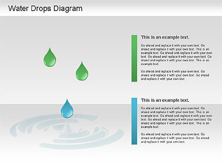 Water Drops Diagram, Slide 2, 01193, Stage Diagrams — PoweredTemplate.com