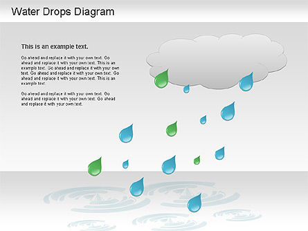 Water Drops Diagram, Slide 3, 01193, Stage Diagrams — PoweredTemplate.com