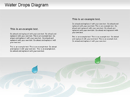 Water Drops Diagram, Slide 4, 01193, Stage Diagrams — PoweredTemplate.com