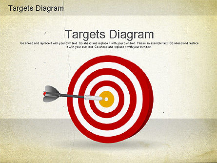 Targets Diagram, 01194, Business Models — PoweredTemplate.com