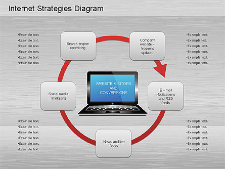 Network Development Diagram, Slide 2, 01195, Stage Diagrams — PoweredTemplate.com