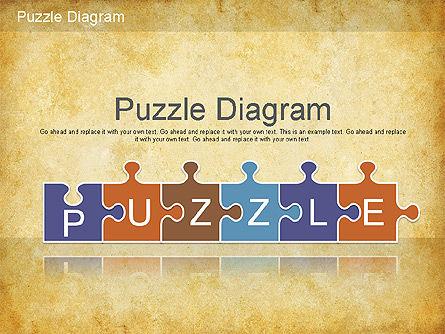 Jigsaw Diagram, 01198, Puzzle Diagrams — PoweredTemplate.com