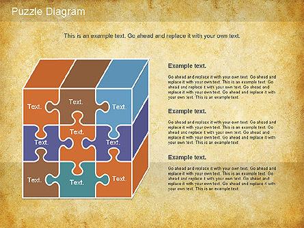 Jigsaw Diagram, Slide 10, 01198, Puzzle Diagrams — PoweredTemplate.com