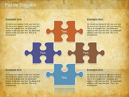 Jigsaw Diagram, Slide 12, 01198, Puzzle Diagrams — PoweredTemplate.com