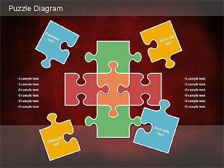 Jigsaw Diagram, Slide 13, 01198, Puzzle Diagrams — PoweredTemplate.com