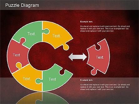Jigsaw Diagram, Slide 16, 01198, Puzzle Diagrams — PoweredTemplate.com