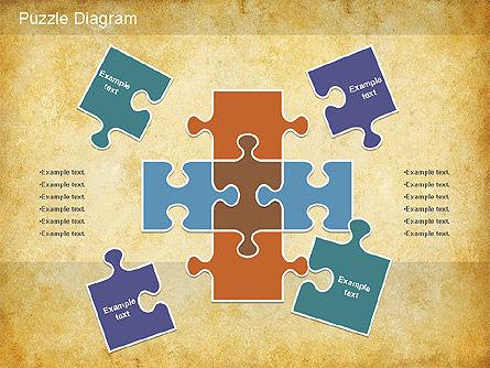 Jigsaw Diagram, Slide 2, 01198, Puzzle Diagrams — PoweredTemplate.com