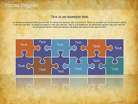 Jigsaw Diagram, Slide 4, 01198, Puzzle Diagrams — PoweredTemplate.com
