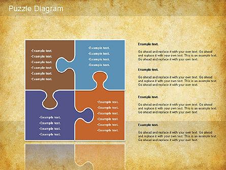 Jigsaw Diagram, Slide 6, 01198, Puzzle Diagrams — PoweredTemplate.com