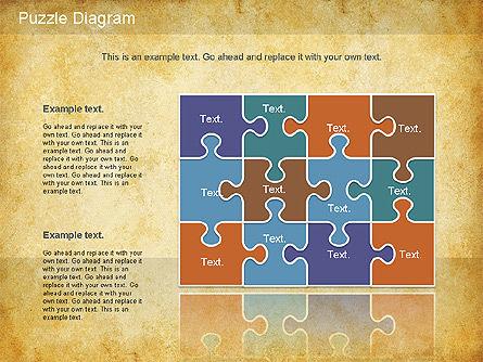 Jigsaw Diagram, Slide 8, 01198, Puzzle Diagrams — PoweredTemplate.com