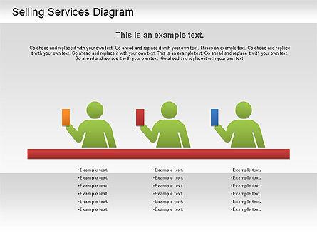 Selling Services Diagram, Slide 10, 01201, Business Models — PoweredTemplate.com